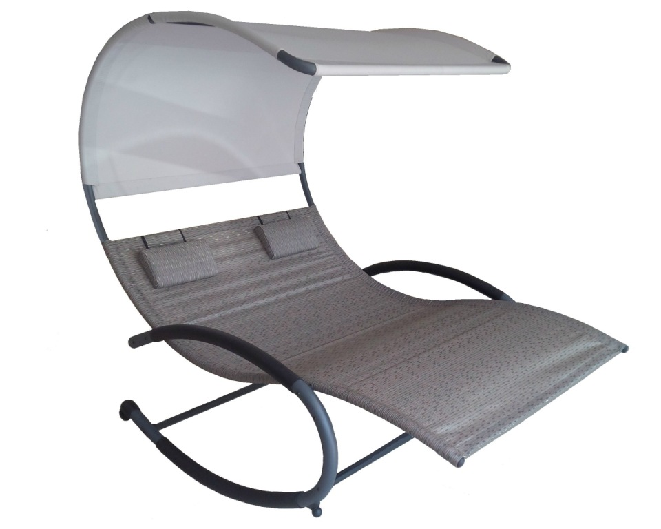 Double Chaise Rocker - sienna
